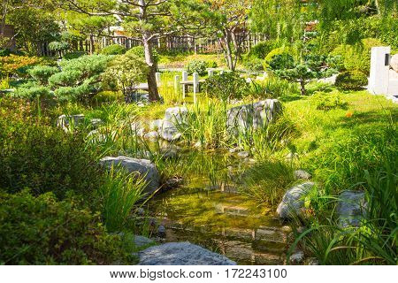 Jardin Japonais, Japanese Garden of Monte Carlo. Monaco