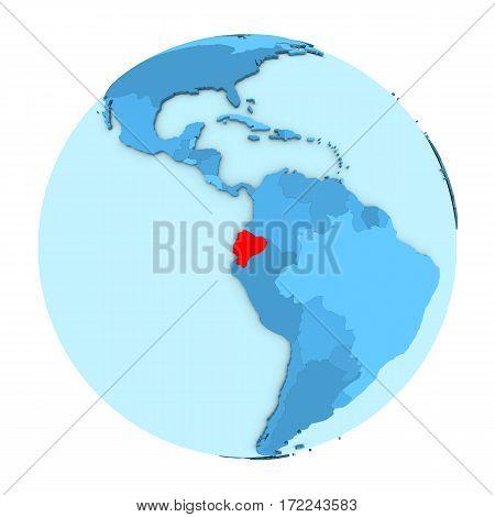 Ecuador On Globe Isolated
