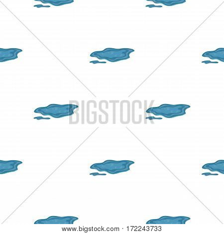 Puddle icon in cartoon style isolated on white background. Weather pattern vector illustration.