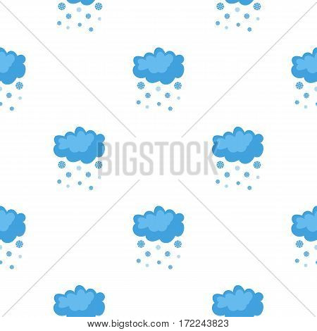 Snowfall icon in cartoon style isolated on white background. Weather pattern vector illustration.