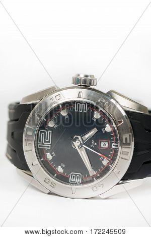 Closeup Macro Isolated Sports Wrist Watch