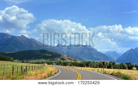 Country Highway In Montana