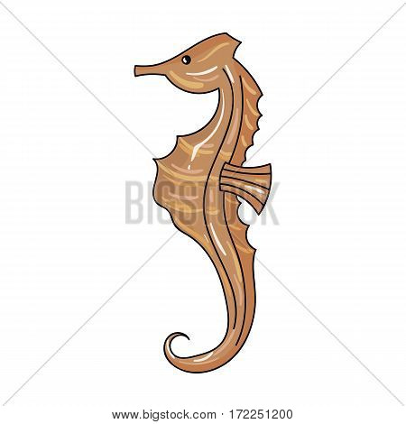 Seahorse icon in cartoon design isolated on white background. Sea animals symbol stock vector illustration.