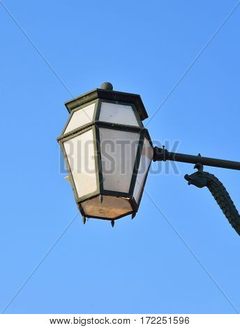 Street lamp in the old style in St.Petersburg Russia.