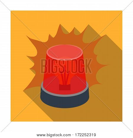 Emergency rotating beacon light icon in flat design isolated on white background. Police symbol stock vector illustration.