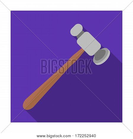 Jewelry hammer icon in flat design isolated on white background. Precious minerals and jeweler symbol stock vector illustration.