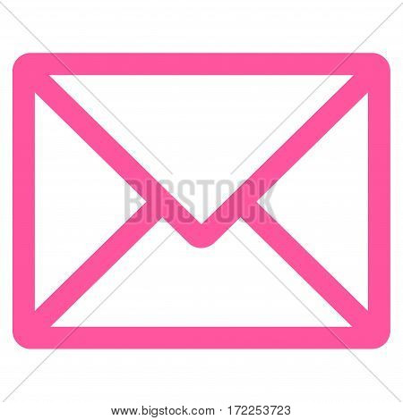 Letter flat icon. Vector pink symbol. Pictograph is isolated on a white background. Trendy flat style illustration for web site design logo ads apps user interface.