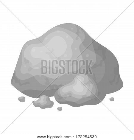 Golden ore icon in monochrome design isolated on white background. Precious minerals and jeweler symbol stock vector illustration.