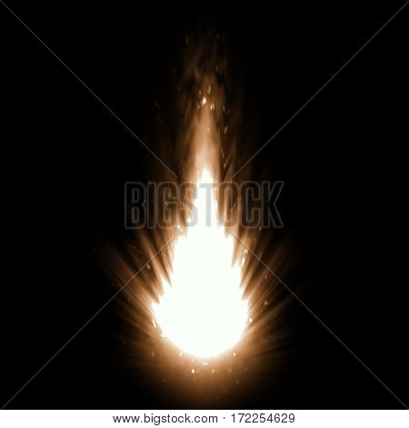 2d illustration of a hot fire explosion