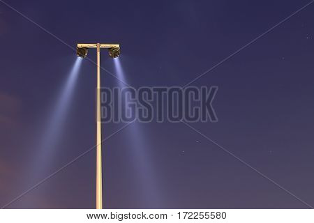 lamppost in the fog in the sky