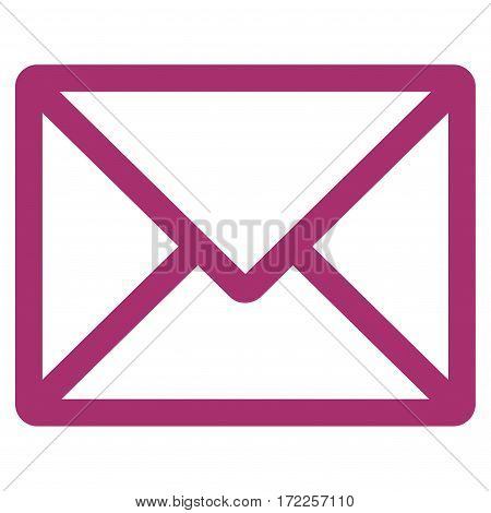 Letter flat icon. Vector purple symbol. Pictogram is isolated on a white background. Trendy flat style illustration for web site design logo ads apps user interface.