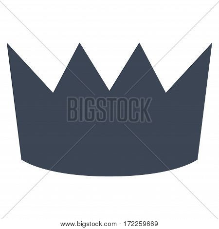 Crown flat icon. Vector smooth blue symbol. Pictograph is isolated on a white background. Trendy flat style illustration for web site design logo ads apps user interface.