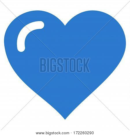 Love Heart flat icon. Vector smooth blue symbol. Pictograph is isolated on a white background. Trendy flat style illustration for web site design logo ads apps user interface.
