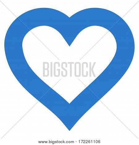 Valentine Heart flat icon. Vector smooth blue symbol. Pictograph is isolated on a white background. Trendy flat style illustration for web site design logo ads apps user interface.