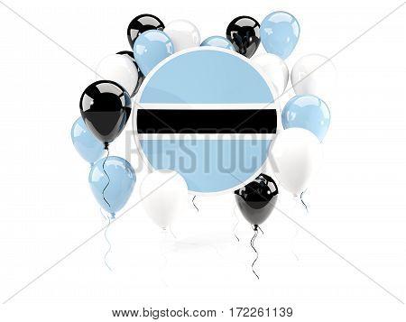Round Flag Of Botswana With Balloons