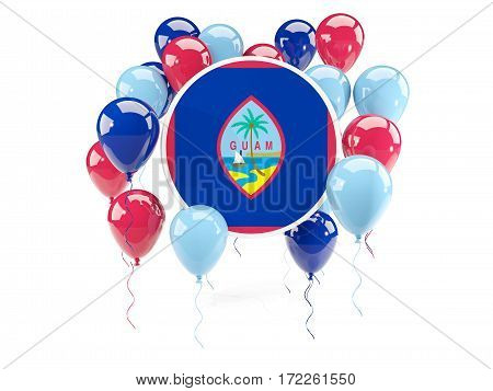 Round Flag Of Guam With Balloons