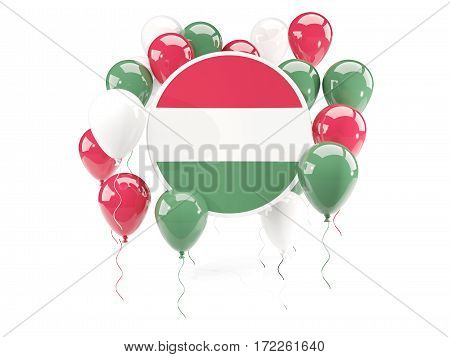Round Flag Of Hungary With Balloons