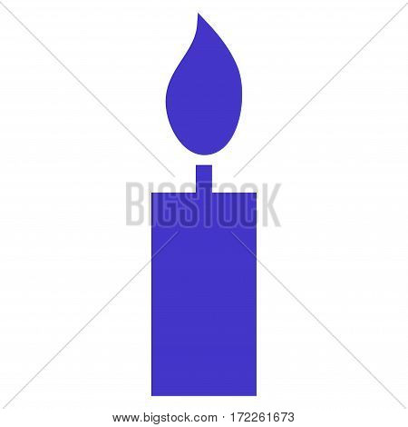 Candle flat icon. Vector violet symbol. Pictogram is isolated on a white background. Trendy flat style illustration for web site design logo ads apps user interface.