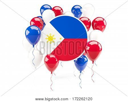 Round Flag Of Philippines With Balloons