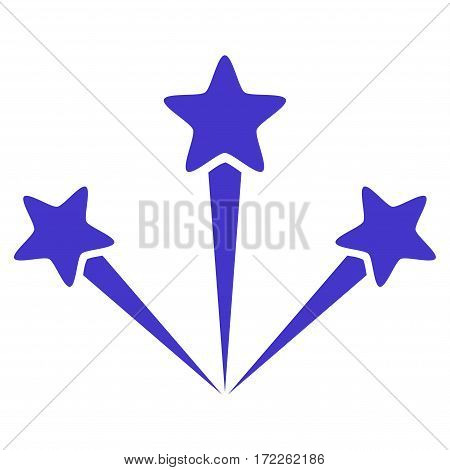 Festive Fireworks flat icon. Vector violet symbol. Pictograph is isolated on a white background. Trendy flat style illustration for web site design logo ads apps user interface.