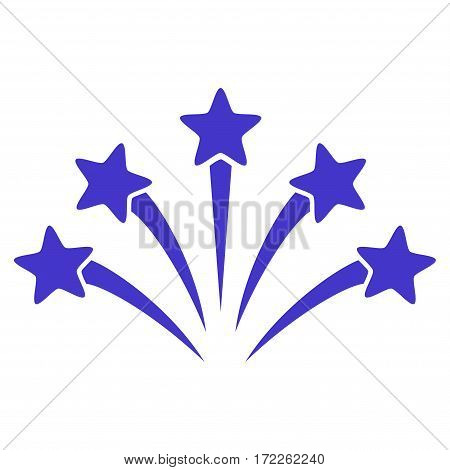 Fireworks Burst flat icon. Vector violet symbol. Pictograph is isolated on a white background. Trendy flat style illustration for web site design logo ads apps user interface.