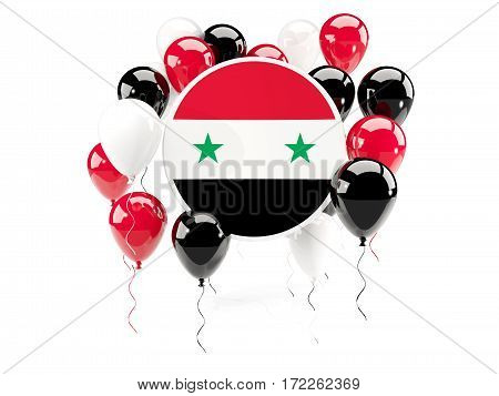 Round Flag Of Syria With Balloons