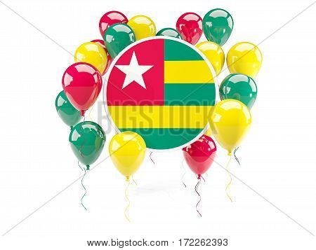 Round Flag Of Togo With Balloons