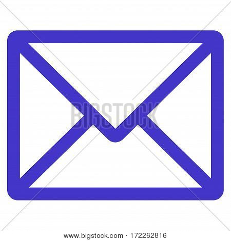 Letter flat icon. Vector violet symbol. Pictogram is isolated on a white background. Trendy flat style illustration for web site design logo ads apps user interface.