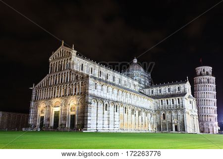 Piazza Dei Miracoli With The Leaning Tower Of Pisa, Italy