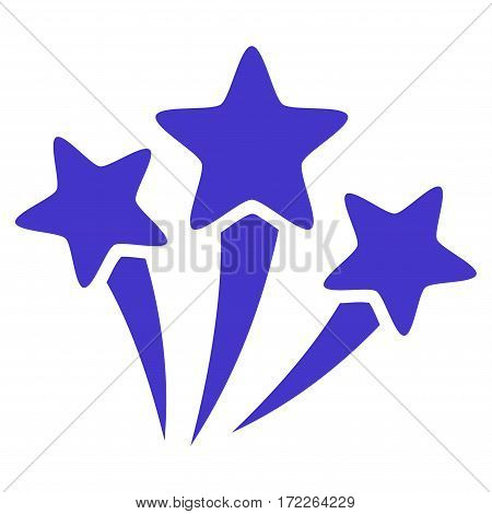 Star Fireworks flat icon. Vector violet symbol. Pictograph is isolated on a white background. Trendy flat style illustration for web site design logo ads apps user interface.