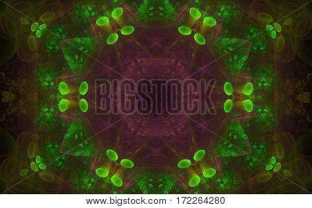 colorful kaleidoscope green purple pattern back ground
