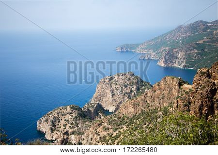 View Over Delik Deniz Bay In Gazipasha Turkey