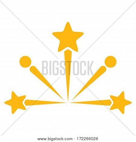 Fireworks Bang flat icon. Vector yellow symbol. Pictogram is isolated on a white background. Trendy flat style illustration for web site design logo ads apps user interface.