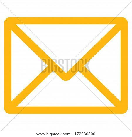 Letter flat icon. Vector yellow symbol. Pictogram is isolated on a white background. Trendy flat style illustration for web site design logo ads apps user interface.