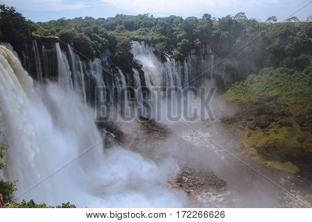 Kalandula falls are one of the largest waterfalls by volume in Africa - Angola