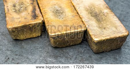 A few golden ingots. Pure golden bricks.