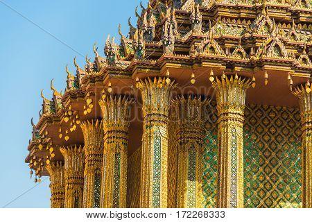 Lavish Decoration Of Thai Building