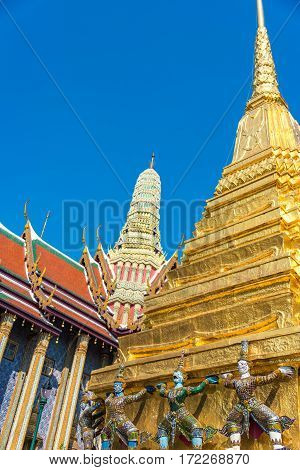 Architecture Details Of Lavish Decoration Of Buildings Of Grand Palace