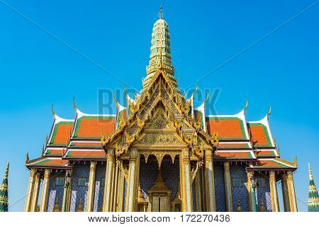 Dazzling Decorations Of Roof And Stupa Of Grand Palace, Bangkok