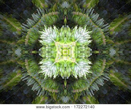 Square Shape Extruded Mandala