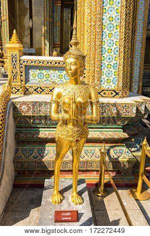 Apsarasi Statue In Grand Palace. Bangkok, Thailand