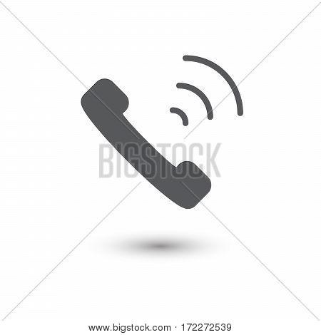 Phone icon flat style isolated on white background vector illustration