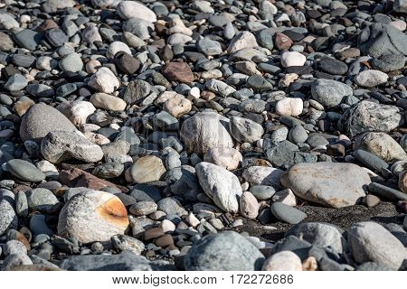 Nice background image of pebbles on a beach