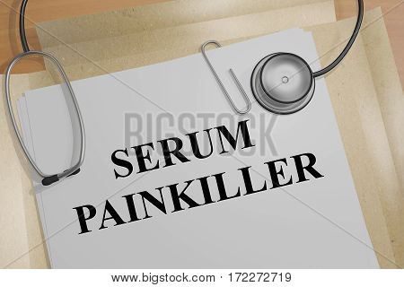 Serum Painkiller - Medical Concept