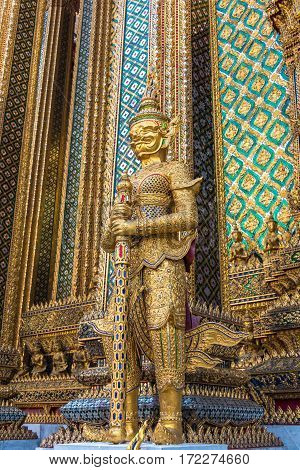 Palace Guardian Statue In Bangkok, Thailand