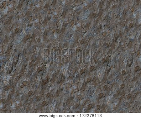 wall of dark brown limestone rock texture blank background
