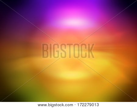 Smooth abstract colorful background. Abstract blurred gradient background in bright rainbow colors. Colorful smooth banner template. Soft colored illustration