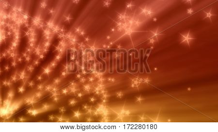 Glitter vintage lights background. Neon shine disco particles. Ray light from sphere