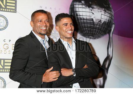 LOS ANGELES - FEB 10:  Mario Van Peebles, Son at the Non-Televised 48th NAACP Image Awards at Pasadena Conference Center on February 10, 2017 in Pasadena, CA