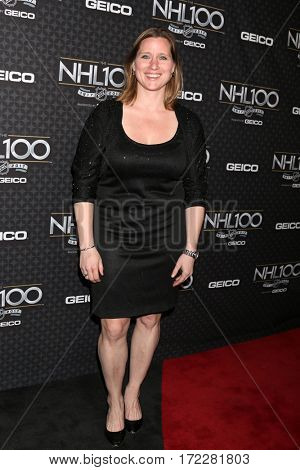 LOS ANGELES - JAN 27:  Angela Ruggiero at The NHL100 Gala at Microsoft Theater on January 27, 2017 in Los Angeles, CA
